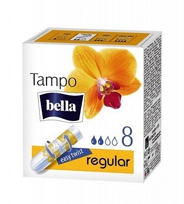 "Тампоны женские гигиенические с аппликатором ""tampo bella"" Regular по 8 шт."